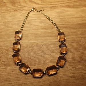 Fossil Peach-colored necklace